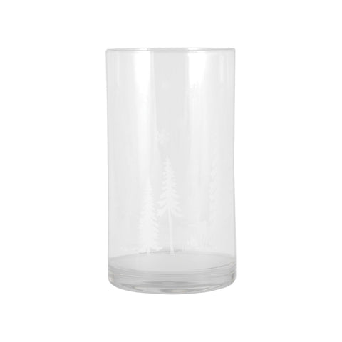 Pomeroy POM-393051 Winter Lights Collection Frosted,Clear Finish Candle/Candle Holder