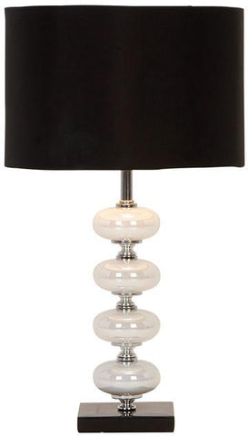 Benzara 40023 Artistic Metal Glass Table Lamp