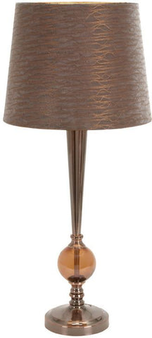 Benzara 40077 Metal Glass Table Lamp To Support Thedecor