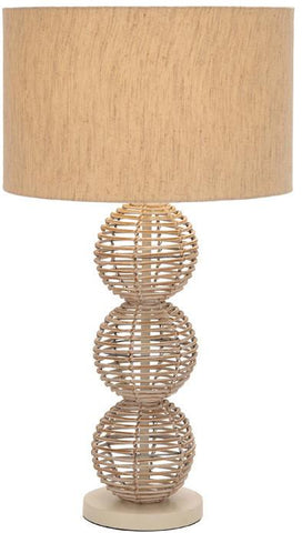 Benzara 40131 Designers Lamps - Metal Rattan Table Lamp
