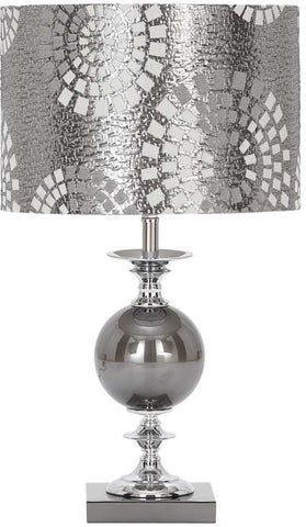 Benzara 40137 Designers Lamps - Metal Glass Table Lamp