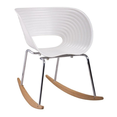 Fine Mod Imports FMI4013-white Vac Arm Rocker Chair, White - Peazz.com - 1
