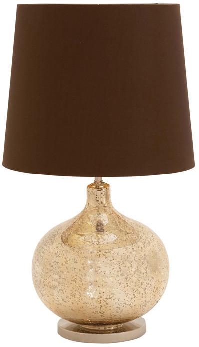 Bayden Hill Glass Metal Table Lamp 26H