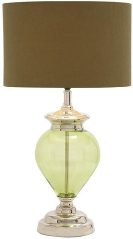 Benzara 40170 The Gorgeous Glass Chrome Table Lamp