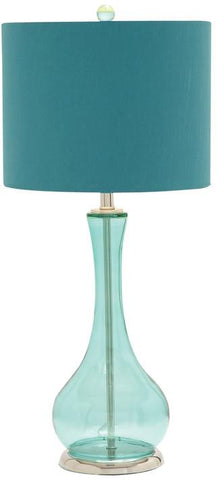Benzara 40180 Glass Chrome Table Lamp