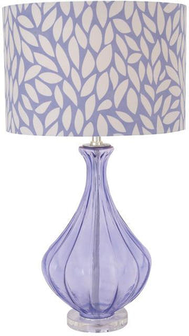 Benzara 40187 The Beautiful Purple Glass Acrylic Table Lamp