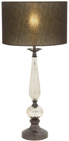 Benzara 40189 Simply Splendid Glass Metal Table Lamp