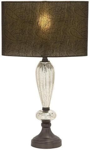 Benzara 40190 Bigger And Bolder Glass Metal Table Lamp