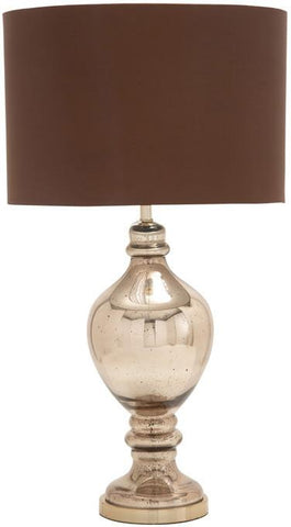 Benzara 40194 Simply Unique Glass Metal Table Lamp