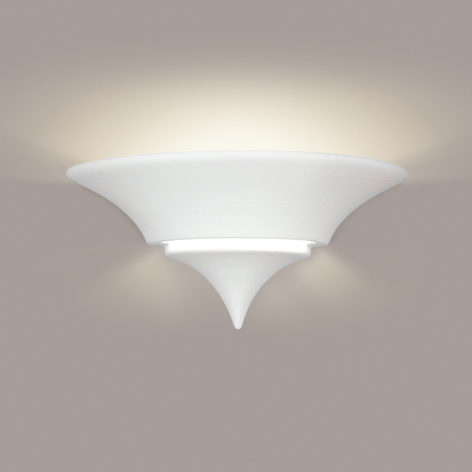 A19 401-CFL13-MB1 Islands of Light Collection Atlantis Ivory Black Marble Finish Wall Sconce