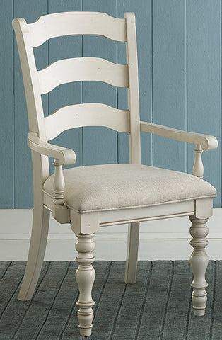 Hillsdale Furniture 5265-804 Pine Island Ladder Back Arm Chair - Set of 2
