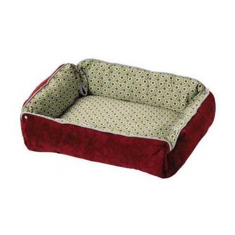 Midwest 40271-SBW Quiet Time Boutique Reversible Snap-Bolster Dog Bed