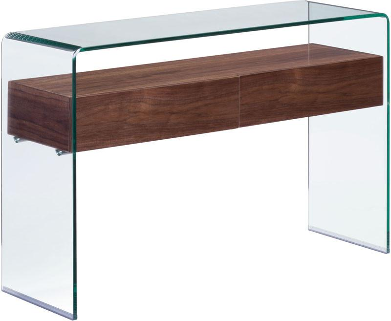 Console Table Color Walnut Mdf Shaman 2075 Product Photo