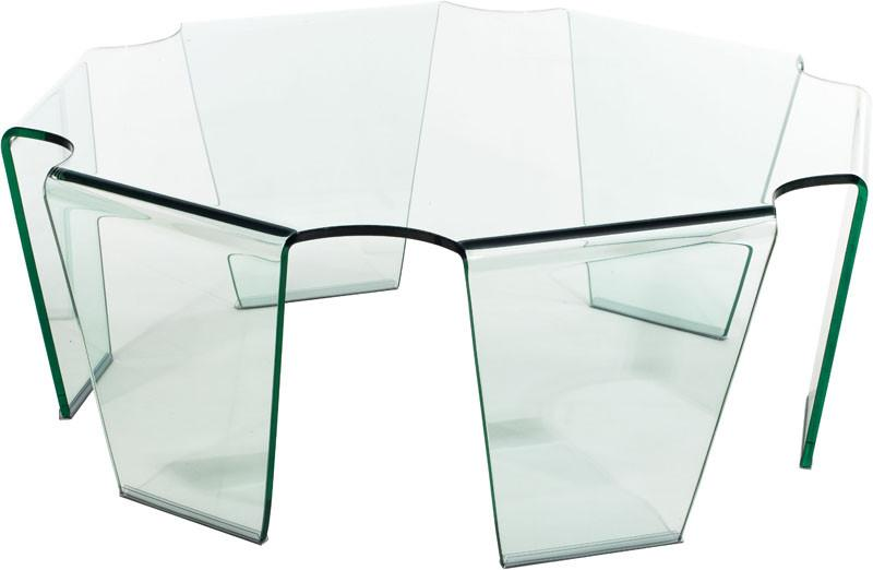 Coffee Table Color Clear Tempered Glass Circuit 2140 Product Photo