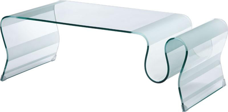 Zuo Coffee Table Color Clear Tempered Glass Discovery