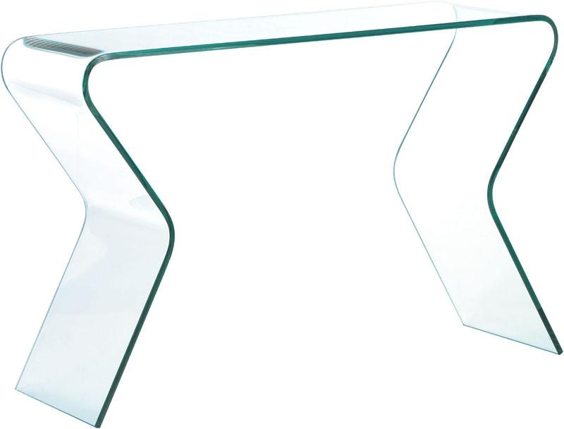 Zuo Console Table Color Clear Tempered Glass Respite