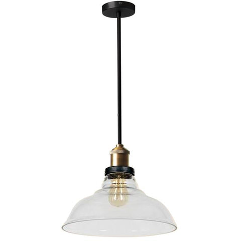 Dainolite 410-141P-BAB 1LT Pendant, Black/Antique Brass