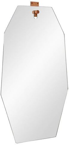 "Apse Glass 21 1/4"" x 34 1/2"" Octagonal Wall Mirror"