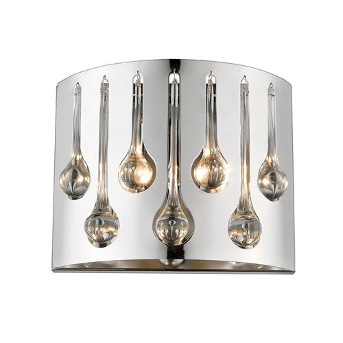 2 Light Transitional Wall Sconce in Chrome Finish