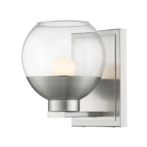 1 Light Wall Sconce with Clear Glass Shade