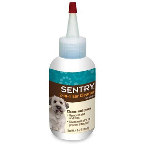 Sergeant's 18302 Sentry 2in1 Ear Cleaner For Dogs, 4 oz - Peazz Pet