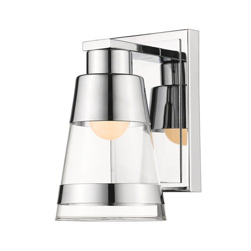 1 Light Wall Sconce in Chrome Finish