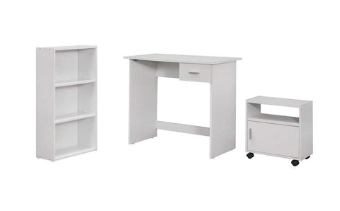 Monarch 3 Piece Computer Desk, White