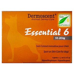 Dermoscent Essential 6 Spot-On Skin Care For Medium Dogs 10-20 kg (22-45 lbs), 4 Tubes - Peazz Pet