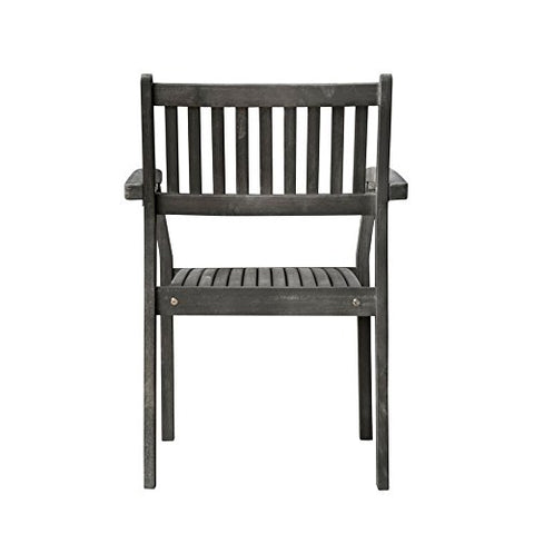 Vifah V1805 Outdoor Patio Hand-Scraped Wood Stacking Armchair