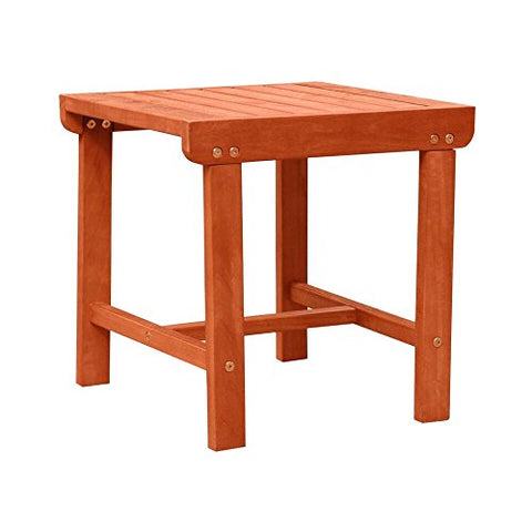 Malibu V1802 Outdoor Patio Wood Side Table, Natural
