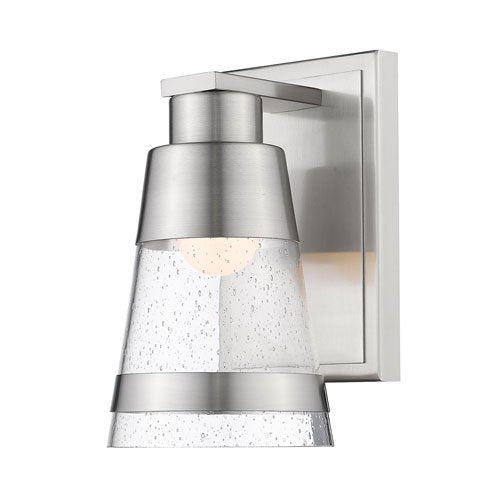 1 Light Wall Sconce in Brushed Nickel Finish