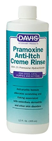 Davis 19073 Davis Pramoxine AntiItch Creme Rinse, 12 oz - Peazz Pet