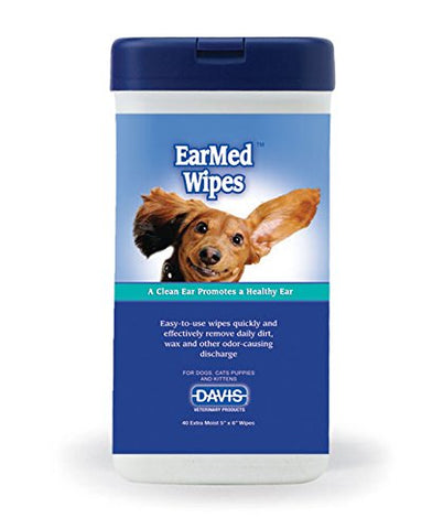 Davis 19065 Davis EarMed Wipes, 40 Wipes - Peazz Pet