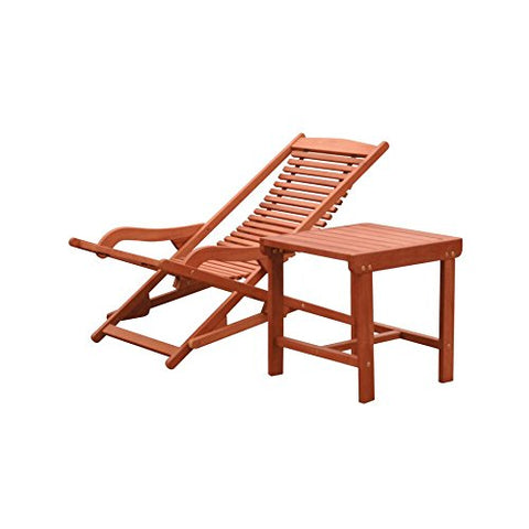 Malibu V1802SET9 Chaise Lounge Set, Natural