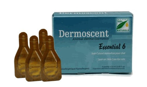 Dermoscent Essential 6 Spot-On Skin Care CAT 4 Tubes - Peazz Pet