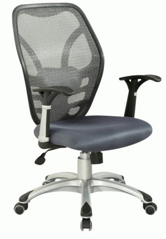Chintaly 4220-CCH Mesh Seat & Back Pneumatic Office Chair
