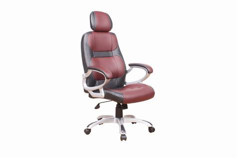 Chintaly 4238-CCH-BRG Modern Adjustable Office Chair with Headrest