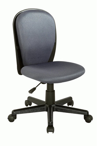 Chintaly 4245-CCH-GRY Fabric Back and Seat Youth Desk Chair