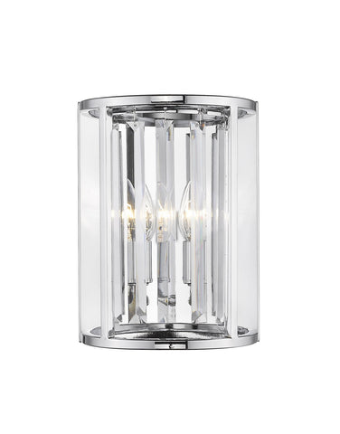 Z-Lite 439-2S-CH Monarch Collection 2 Light Wall Sconce Chrome Finish