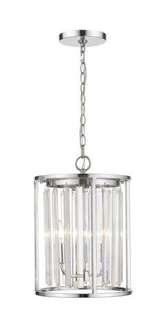 Z-Lite 439-3CH Monarch Collection 3 Light Chandelier Chrome Finish
