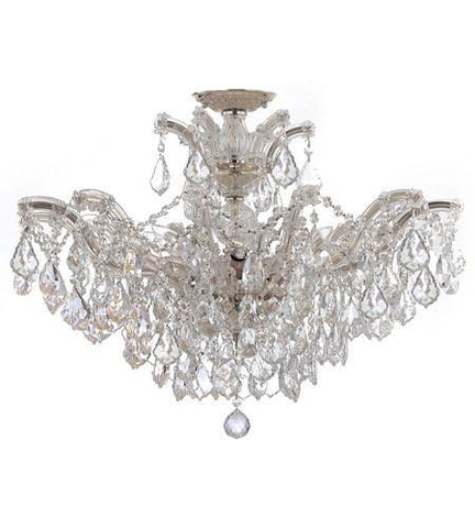 Crystorama 4439-CH-CL-MWP_CEILING Maria Theresa 6 Light Clear Crystal Chrome Semi-Flush II - PeazzLighting