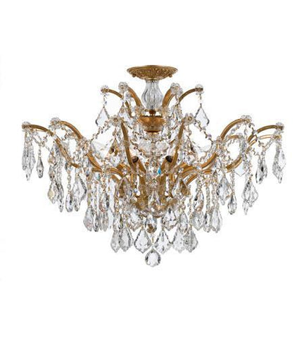 Crystorama 4459-GA-CL-SAQ_CEILING Filmore 6 Light Spectra Gold Semi-Flush - PeazzLighting