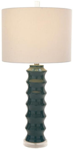 "Bayden Hill Ceramic Blue Table Lamp 30""H - Peazz.com"