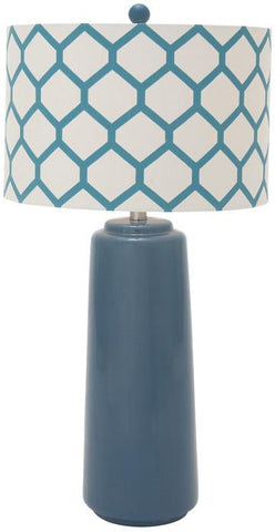 "Bayden Hill Ceramic Mtl Blue Table Lamp 30""H - Peazz.com"