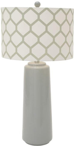 "Bayden Hill Ceramic Mtl Grey Table Lamp 30""H - Peazz.com"