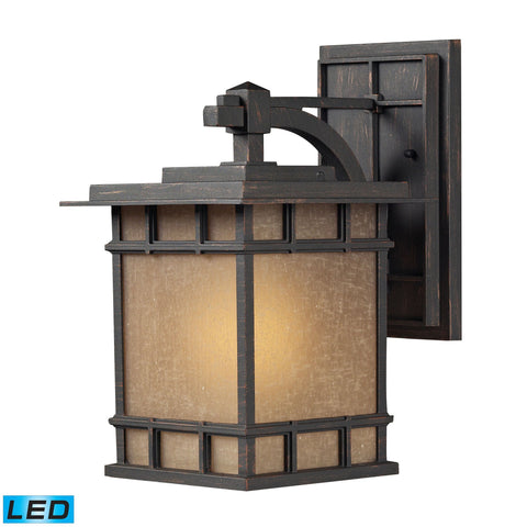 ELK Lighting 45011/1-LED Newlton Collection Weathered Charcoal Finish - PeazzLighting