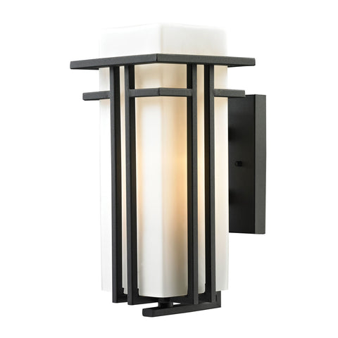 ELK Lighting 45086/1 Croftwell Collection Textured Matte Black Finish - PeazzLighting