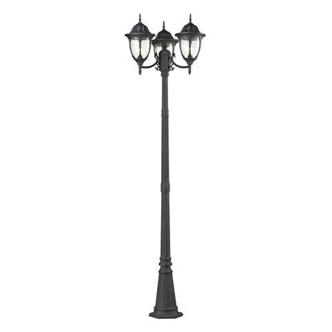 ELK Lighting 45089/3 Central Square Collection Textured Matte Black Finish - PeazzLighting