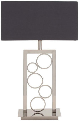 Benzara 45476 The Amazing Stainless Steel Table Lamp
