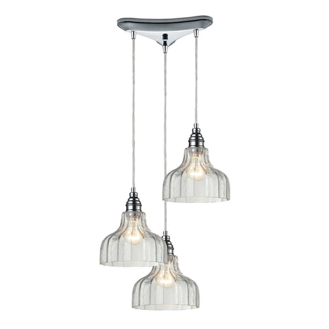 ELK Lighting 46018/3 Danica Collection Polished Chrome Finish - PeazzLighting